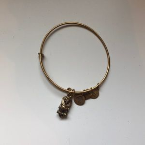 Alex and Ani Owl charm bracelet